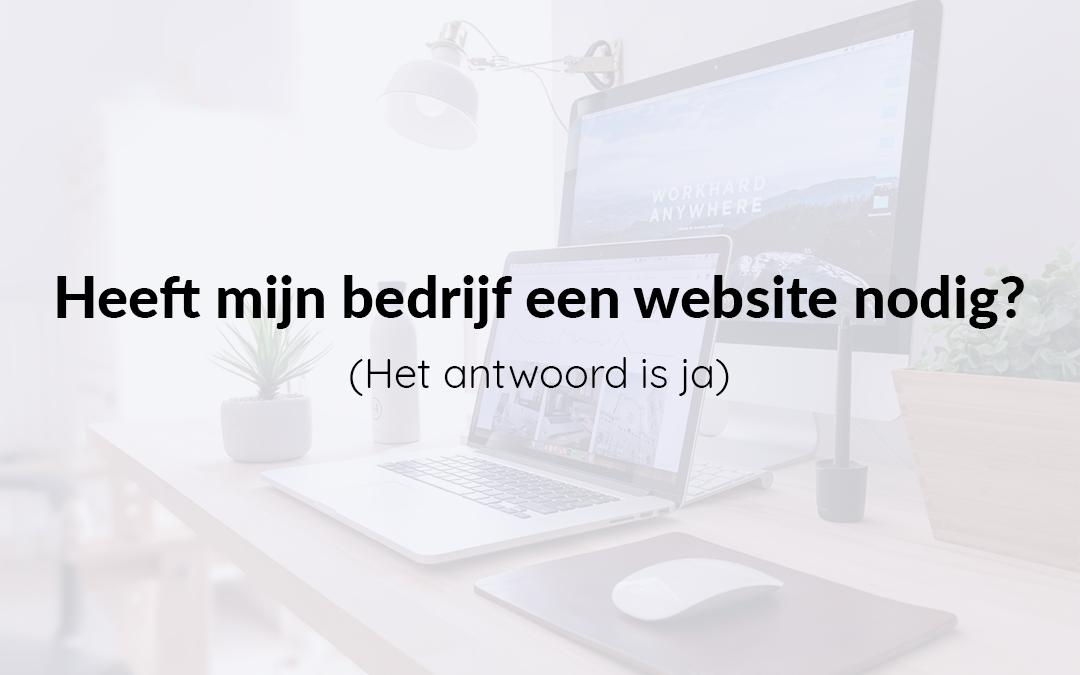 Heeft mijn bedrijf een website nodig?